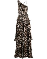Philipp Plein Tiered Leopard-print Gown - Multicolor