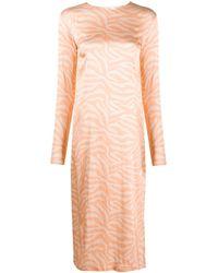 ANDAMANE Long-sleeved Animal-print Dress - Multicolour