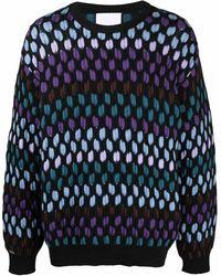 Koche Jersey de punto con diseño colour block - Negro