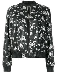 MICHAEL Michael Kors - Floral Embroidered Bomber Jacket - Lyst