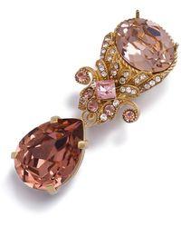 Dolce & Gabbana Ohrringe mit Kristallen - Pink