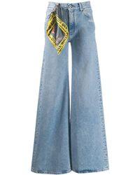 Off-White c/o Virgil Abloh Mid Rise Wide-leg Jeans - Blue