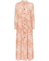 Chloé Floral Print Maxi Dress - Pink