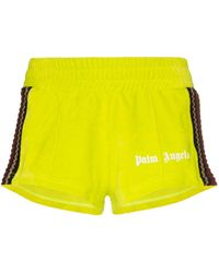 Palm Angels Chenille Track Shorts - Green