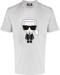 Karl Lagerfeld Ikokik Tシャツ - グレー