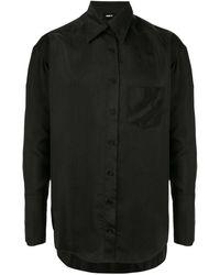Yang Li Plain Shirt - Black