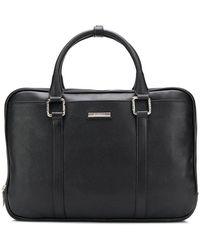 Baldinini Logo Plaque Briefcase - Black