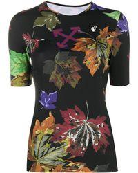 Off-White c/o Virgil Abloh T-shirt à fleurs - Noir