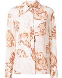 Karen Walker Blossom フローラル シルクシャツ - ピンク