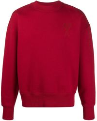 AMI Толстовка Свободного Кроя С Вышитым Логотипом - Красный