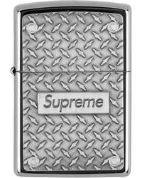 Supreme - Briquet Zippo Diamond Plate - Lyst