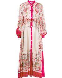Black Coral Платье Макси С Длинными Рукавами - Розовый