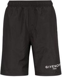 Givenchy Badeshorts mit Logo-Print - Schwarz