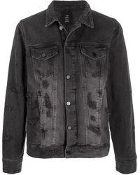 Thom Krom Stonewashed Denim Jacket - Grey