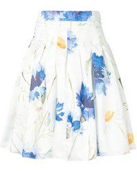 Bambah Carnation Mini Skirt - White
