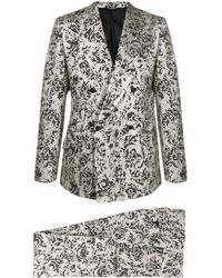 Dolce & Gabbana Zweiteiliger Jacquard-Anzug - Grün