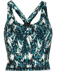 Sweaty Betty Marble Print Cropped Tank Top - Blue