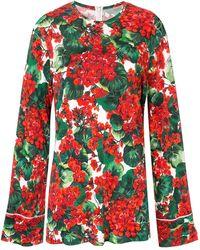 Dolce & Gabbana - Blusa Portofino estampada - Lyst
