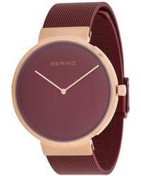 Bering Наручные Часы Classic Polished - Красный