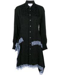 Koche レーストリム シフトドレス - ブラック