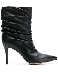 Gianvito Rossi - Cecile Gathered Boots - Lyst