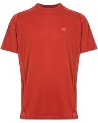 Arc'teryx Футболка С Вышивкой - Красный