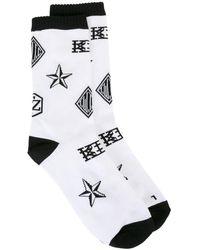 KTZ ロゴ靴下 - ホワイト