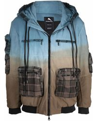 Mauna Kea Gradient-effect Hooded Jacket - Blue