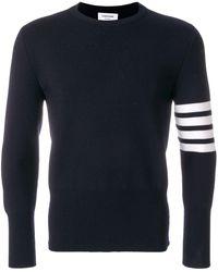 Thom Browne - ネイビー メリノ ウール 4bar ストライプ セーター - Lyst