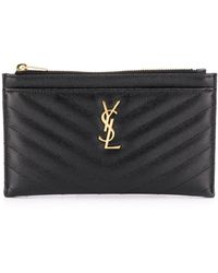 Saint Laurent Quilted Monogram Pouch