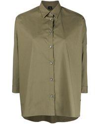 Fay Рубашка Свободного Кроя - Зеленый