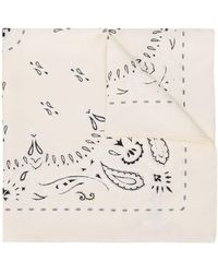 Tory Burch Embroidered Scarf - Natural
