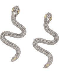Alessandra Rich Crystal-embellished Snake Earrings - Metallic