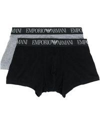Emporio Armani ロゴ ボクサーパンツ セット - グレー