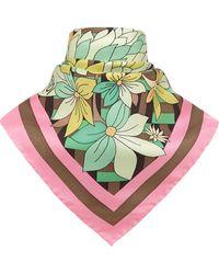Fendi Bandana a fiori - Rosa