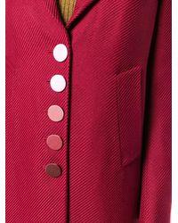 Marco De Vincenzo Abrigo Supertwill con botonadura simple - Rojo