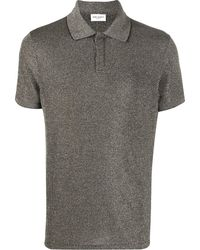 Saint Laurent - Poloshirt im Metallic-Look - Lyst