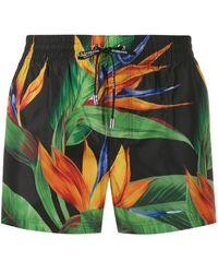 Dolce & Gabbana Jungle Print Swim Shorts - Green