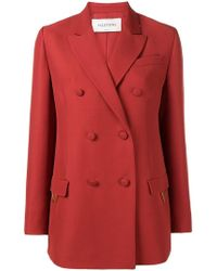 Valentino - Double Breasted Blazer - Lyst