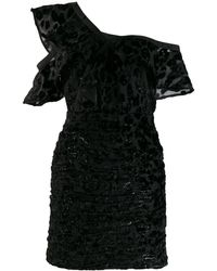 Self-Portrait ワンショルダー ドレス - ブラック