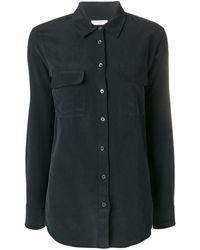 Equipment Signature Slim Fit Shirt - Black