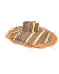 Etro Fringed Wide Brim Hat - Multicolour