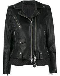 DIESEL Leather Biker Jacket Black