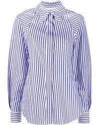 Victoria Beckham ストライプ シャツ - ブルー