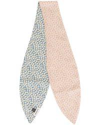 Lanvin Daisy Print Neck Bow - Pink