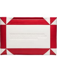 CALVIN KLEIN 205W39NYC Logo-embossed Geometric Clutch - White