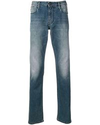 Emporio Armani Slim-fit Jeans - Blauw