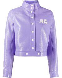 Courreges Logo Chest Jacket - Purple