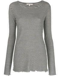 Nili Lotan Striped Print Top - グレー