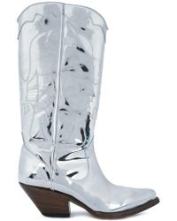 Buttero - Elise Mirrored Western Boots - Lyst